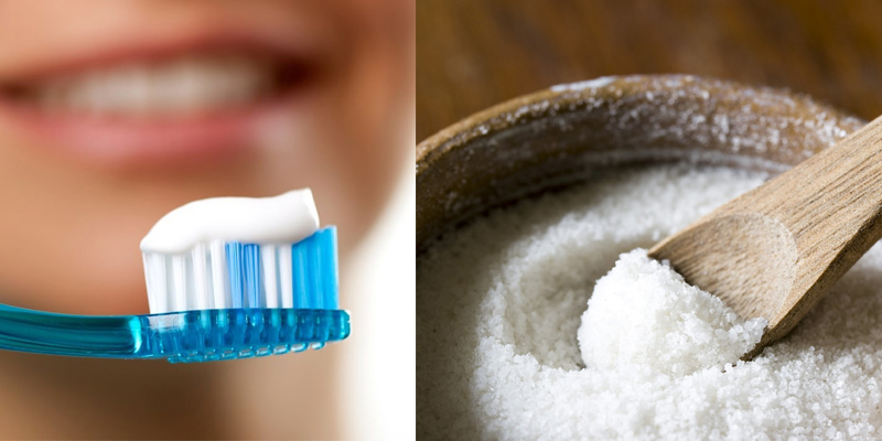 Những công thức làm trắng răng và trị mụn từ kem đánh răng kết hợp với muối